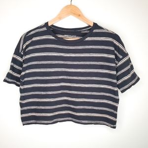 American Eagle Striped Baggy Retro Crop T-shirt